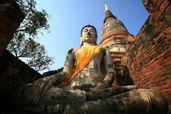 ayuthayabuddha staty thailand Fotografering för Bildbyråer