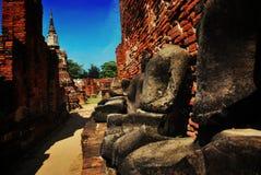 Ayuttaya历史公园,泰国 库存图片