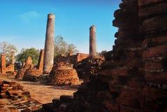 Ayuttaya历史公园,泰国 库存照片