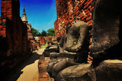 Ayuttaya Historisch Park, Thailand Stock Afbeelding