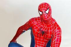 Ayuttaya Tajlandia, Listopad, - 15, 2015: Spider-Man model siedzi Obrazy Royalty Free