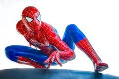 Ayuttaya Tajlandia, Listopad, - 15, 2015: Spider-Man model siedzi obrazy stock