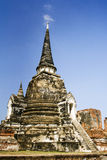 Ayuttaya, temples in thailand stock photo