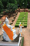 ayuttaya thai buddha Royaltyfri Fotografi
