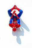 Ayuttaya, Thailand - December 30, 2014 : Spider-Man model upside Royalty Free Stock Photography