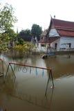 ayuttaya zalewa megą świątynnego Thailand Obrazy Stock