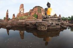 ayuttaya zalewa megą świątynnego Thailand Zdjęcie Stock
