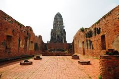 Ayutthay Historical Park in Thai Royalty Free Stock Photography