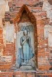 ayutthaya佛教寺庙 库存图片