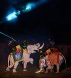 Ayutthaya光&声音介绍2012年 免版税库存图片