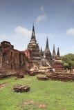 ayutthaya城市有历史的phra sanphet si wat 免版税库存图片