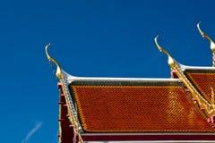 ayutthaya屋顶寺庙 库存图片