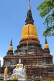 ayutthaya废墟 免版税图库摄影