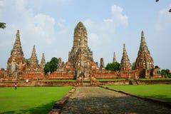 ayutthaya柴・泰国wat wattanaram 库存图片