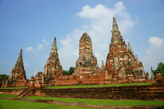 ayutthaya柴・泰国wat wattanaram 免版税库存图片