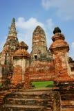 ayutthaya柴・泰国wat wattanaram 库存照片