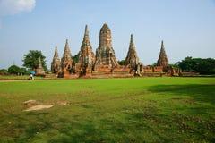 ayutthaya柴・泰国wat wattanaram 免版税库存照片