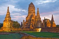 ayutthaya柴・泰国wat watthanaram 免版税图库摄影