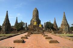 ayutthaya柴・泰国wat watthanaram 免版税库存照片