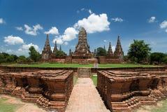 ayutthaya柴t寺庙watthanaram 免版税图库摄影