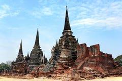 Ayutthaya老泰国寺庙  图库摄影