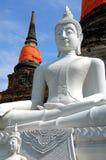 ayutthaya菩萨形象泰国白色 免版税库存照片