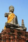 ayutthaya菩萨雕象 免版税库存图片