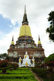 ayutthaya菩萨雕象 库存图片