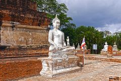ayutthaya菩萨 泰国 免版税库存照片