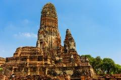 Ayutthaya är ett landskap som har en historia arkivbilder