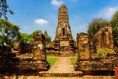 Ayutthaya är ett landskap som har en historia arkivfoto