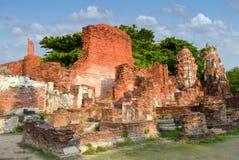 Ayutthaya ναών Wat mahathat. Στοκ φωτογραφία με δικαίωμα ελεύθερης χρήσης
