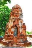 Ayutthaya-ΤΑΪΛΑΝΔΗ: Καταστροφές του μοναστηριού, καταστροφές του παλαιού π στοκ εικόνες