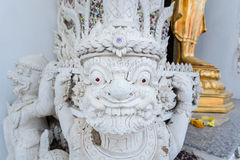 Ayutthaya, Ταϊλάνδης - 11 Μαρτίου, 2017: Άγαλμα φυλάκων Buddh Στοκ φωτογραφία με δικαίωμα ελεύθερης χρήσης