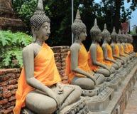 ayutthaya Будда Стоковое Изображение