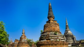 Ayutthaya один из списка всемирного наследия стоковое изображение rf