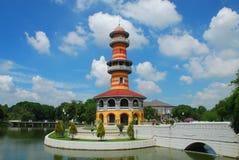 轰隆Ayutthaya省的,泰国痛苦宫殿 免版税库存照片
