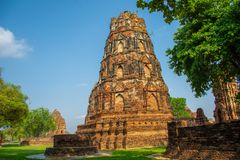 Ayutthaya, the ancient city of Thailan stock photos