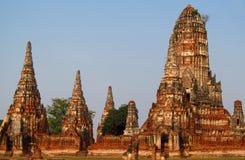 Ayutthaya ancient temple ruins stock image