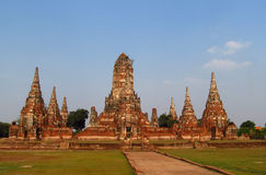 Ayutthaya ancient temple ruins Royalty Free Stock Images