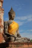 ayutthaya budda泰国 免版税库存图片