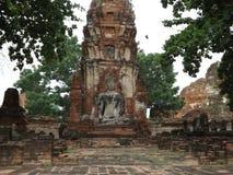 Ayutthaya, buddha temple, ancient ruins stock photo