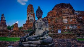 Ayutthaya buddha temple thailand stock photography