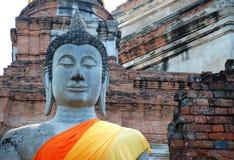 ayutthaya buddha thailand Arkivbild