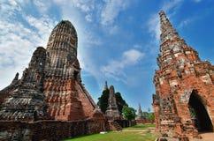 ayutthaya chaiwattanaram历史公园寺庙 图库摄影