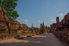 Ayutthaya, de oude stad van Thailan royalty-vrije stock foto