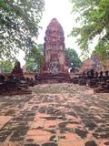 Ayutthaya 3, de Werelderfenis Royalty-vrije Stock Foto's