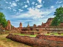Ayutthaya di storia della Tailandia della città storica della gente tailandese fotografia stock libera da diritti