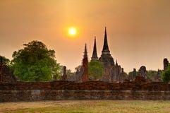 Ayutthaya fördärvar royaltyfri bild
