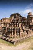 Ayutthaya fördärvar i ljust solsken Arkivbilder